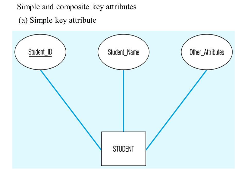 Simple and composite key attributes