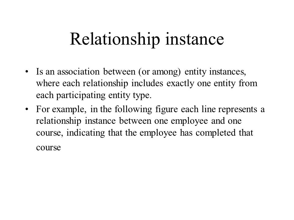 Relationship instance
