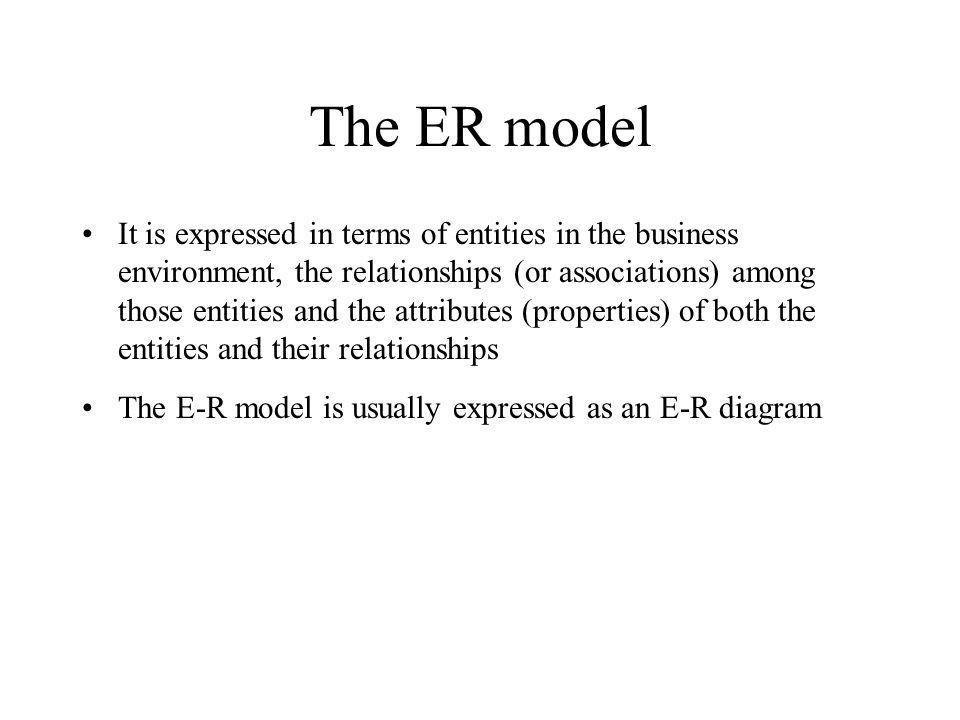 The ER model