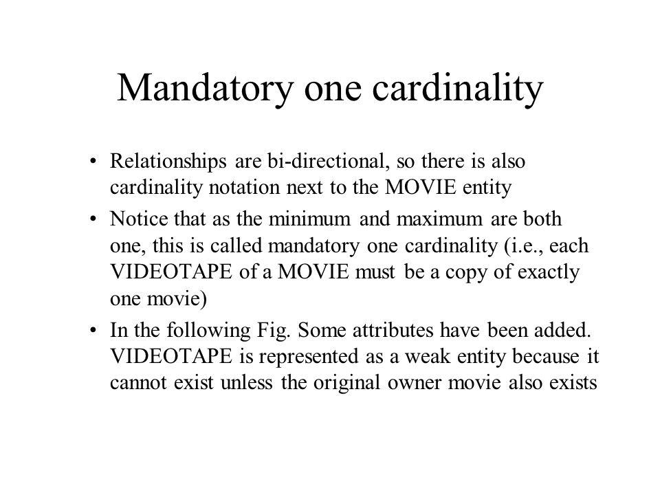 Mandatory one cardinality