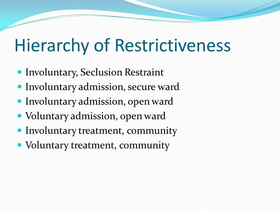 Hierarchy of Restrictiveness
