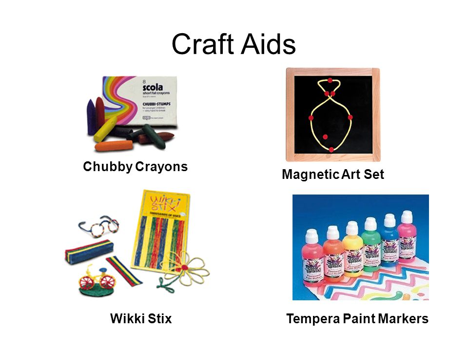 Craft Aids Chubby Crayons Magnetic Art Set Wikki Stix