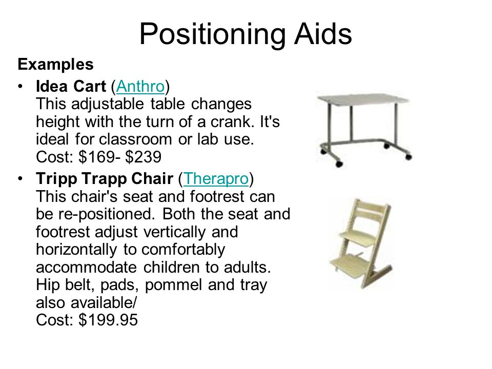 Positioning Aids Examples