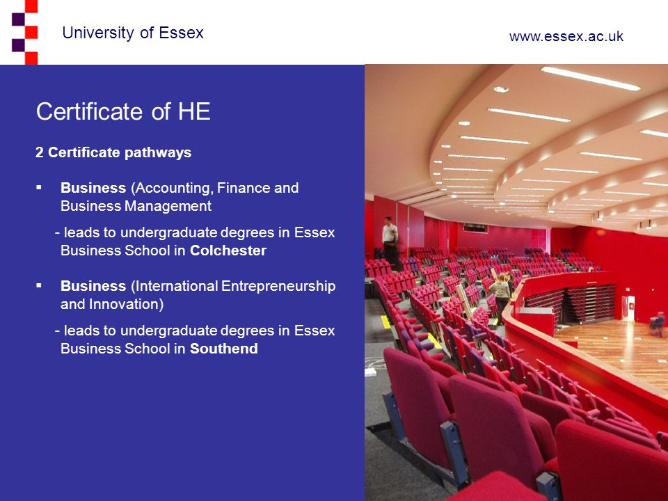 Certificate of HE 2 Certificate pathways
