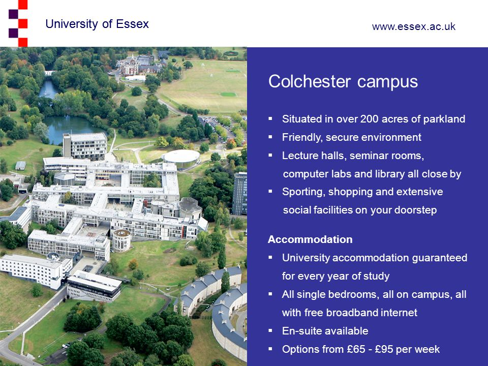 Colchester campus University of Essex