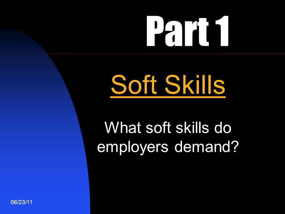 What soft skills do employers demand
