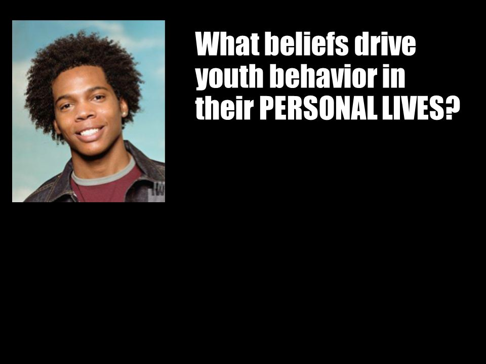 What beliefs drive youth behavior in their PERSONAL LIVES