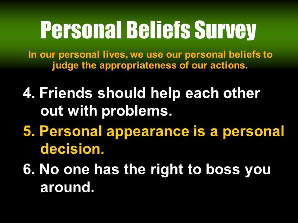 Personal Beliefs Survey