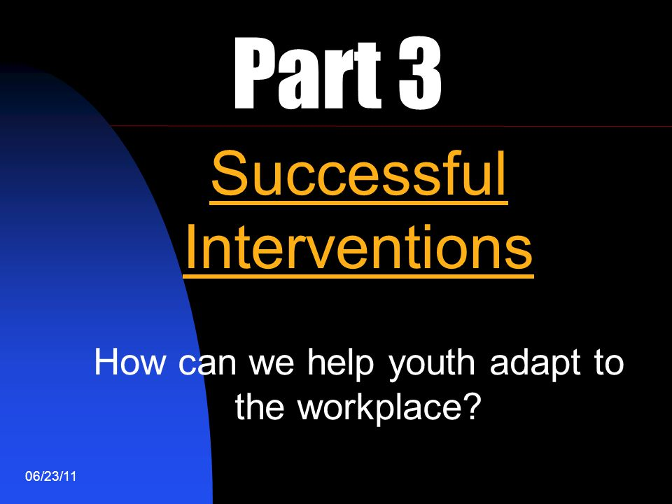 Part 3 Successful Interventions
