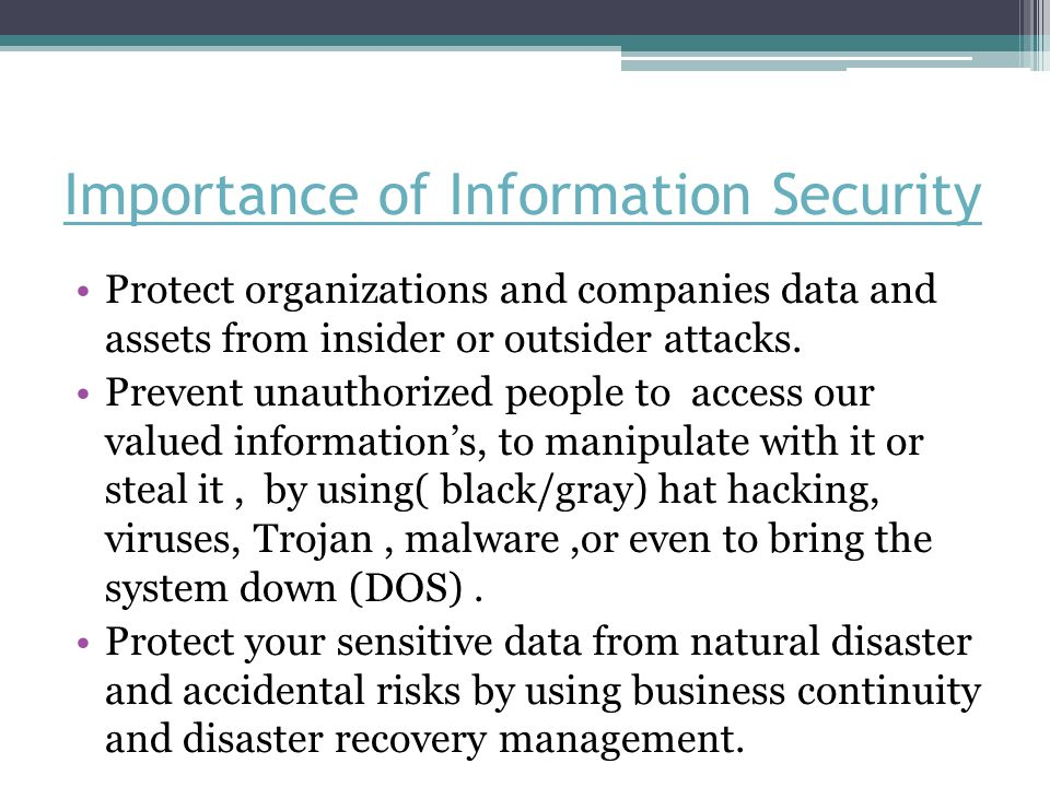 Importance of Information Security