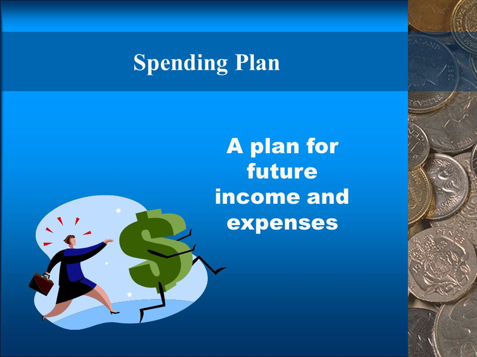 A plan for future income and expenses