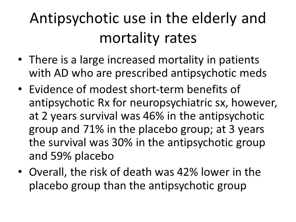 Antipsychotic use in the elderly and mortality rates