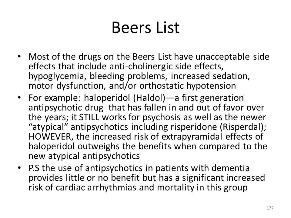 Beers List