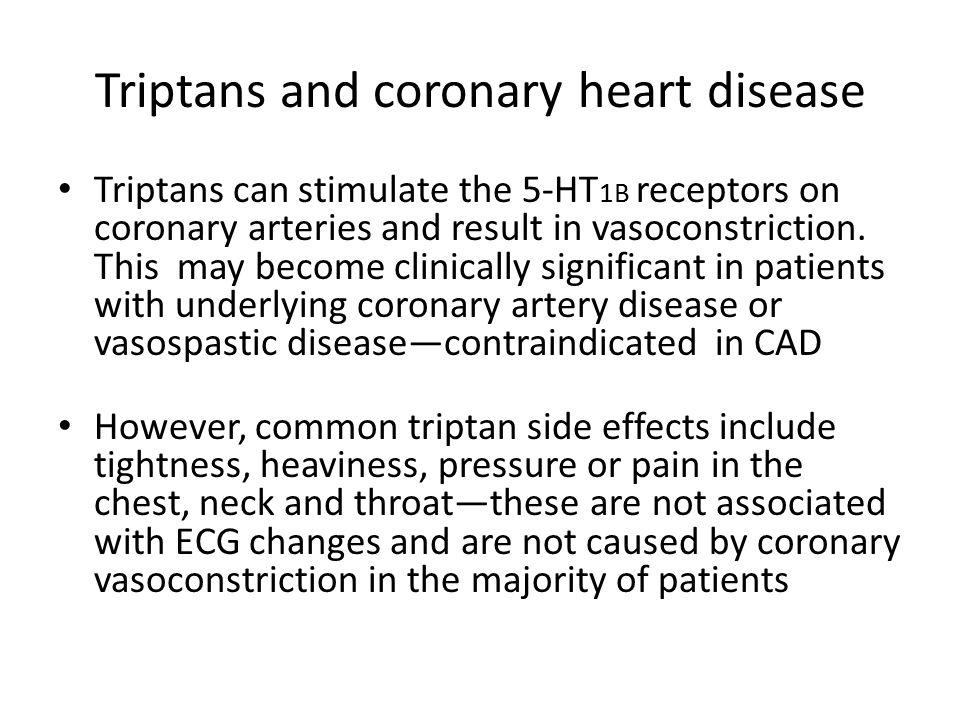 Triptans and coronary heart disease