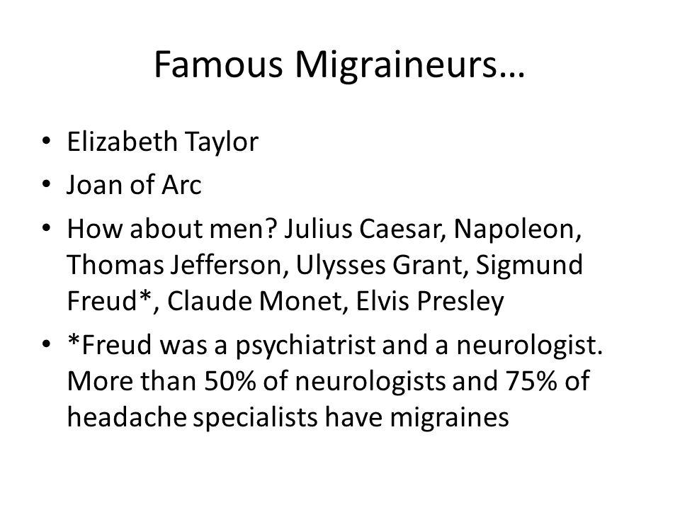 Famous Migraineurs… Elizabeth Taylor Joan of Arc