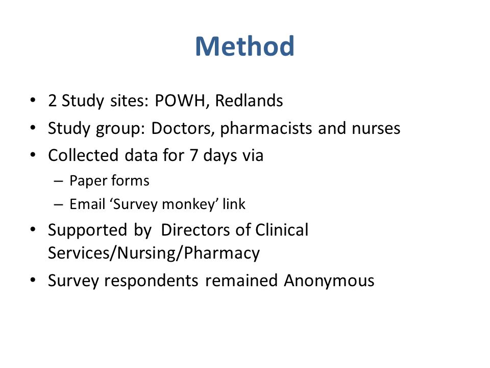 Method 2 Study sites: POWH, Redlands