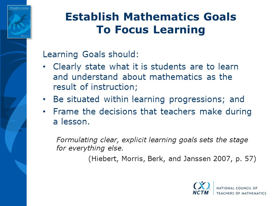 Establish Mathematics Goals