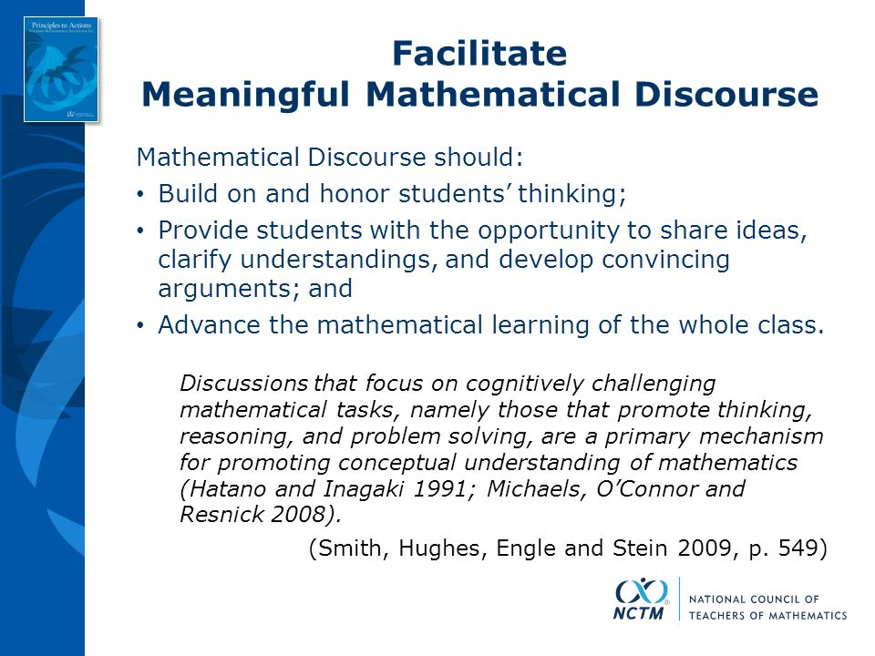 Meaningful Mathematical Discourse