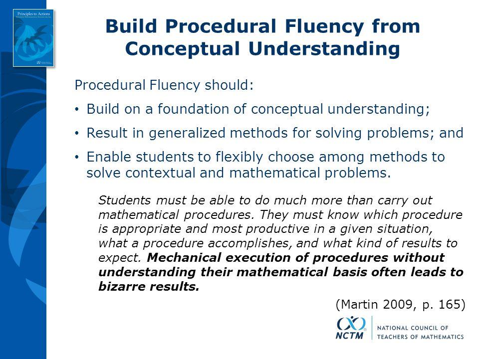 Build Procedural Fluency from Conceptual Understanding