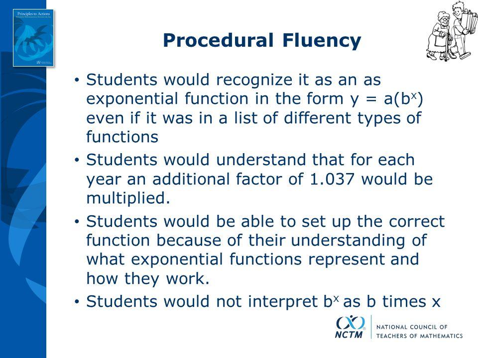 Procedural Fluency
