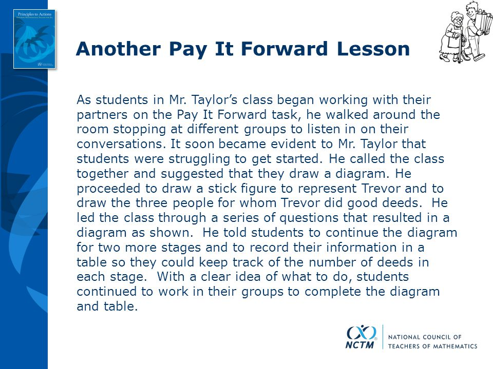 Another Pay It Forward Lesson