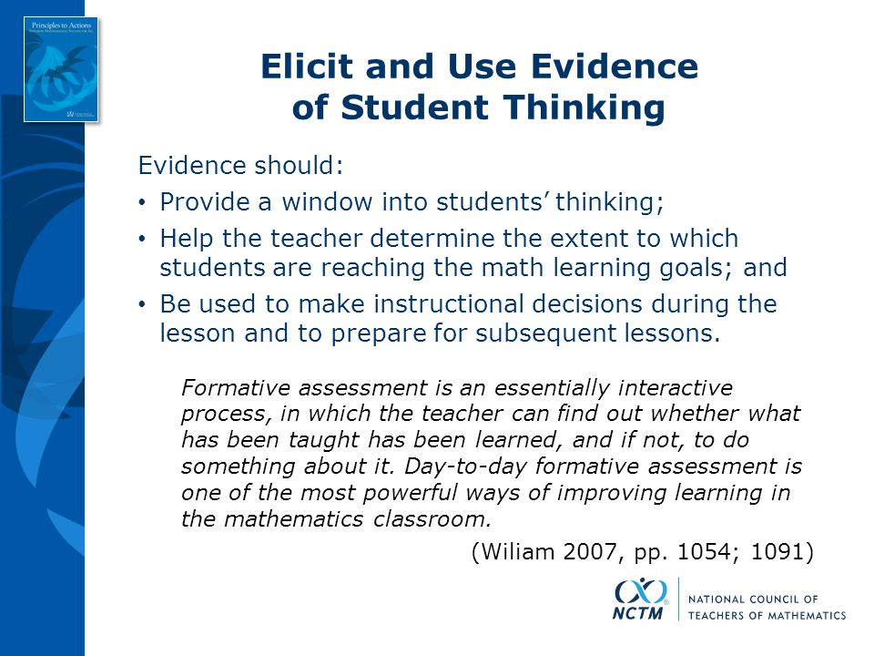 Elicit and Use Evidence