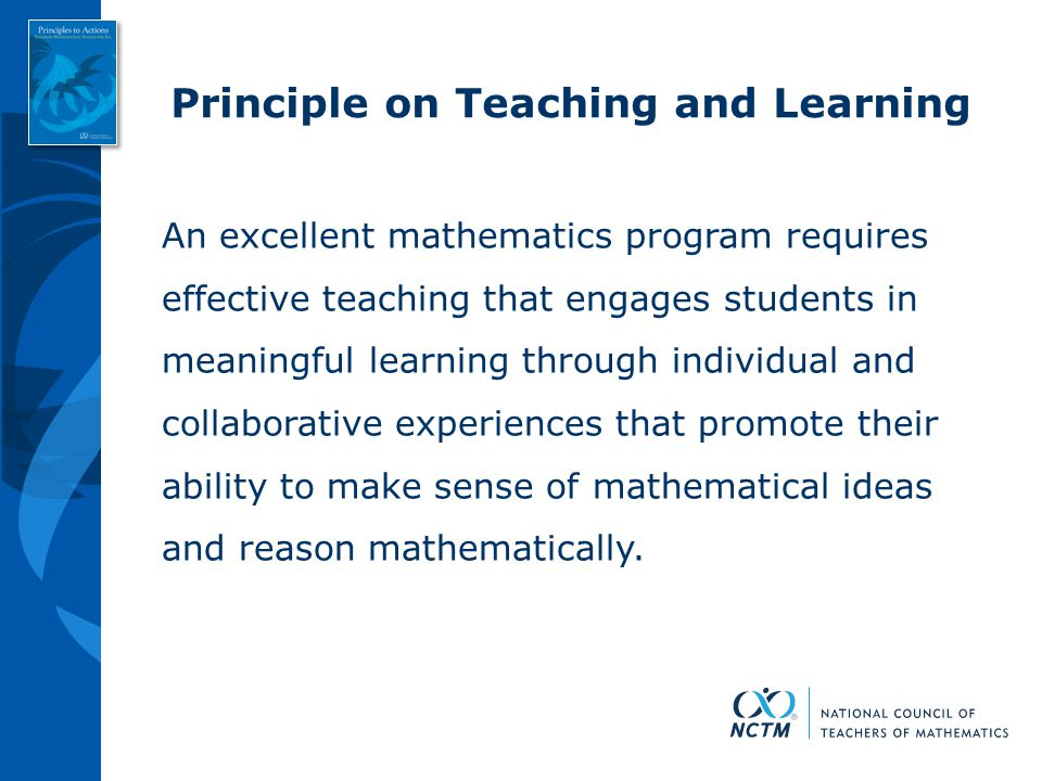 Principle on Teaching and Learning