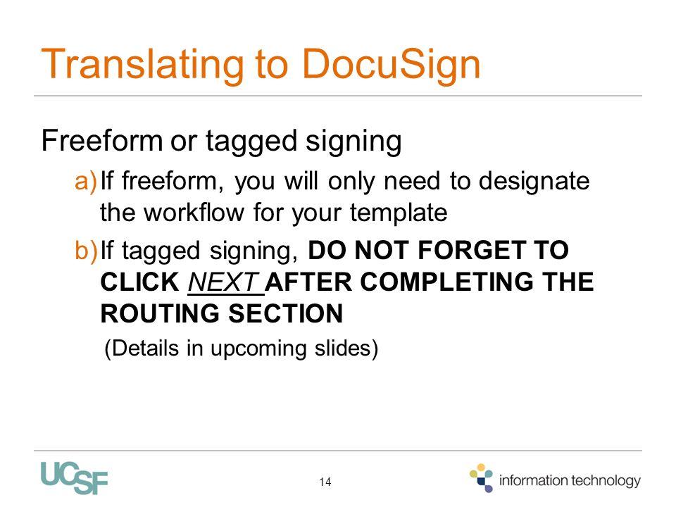 Translating to DocuSign