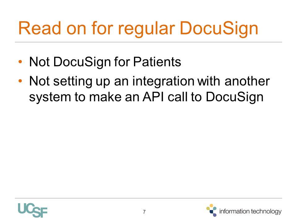 Read on for regular DocuSign