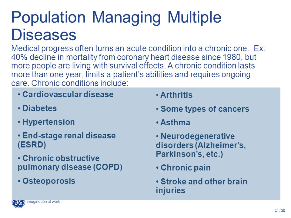Population Managing Multiple Diseases