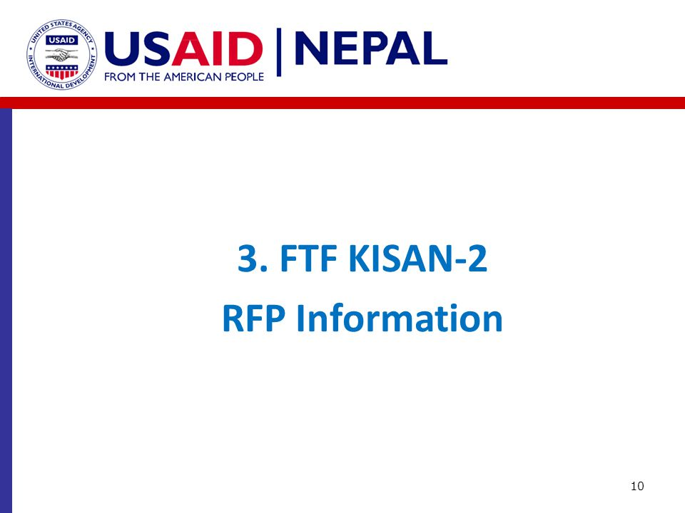 3. FTF KISAN-2 RFP Information