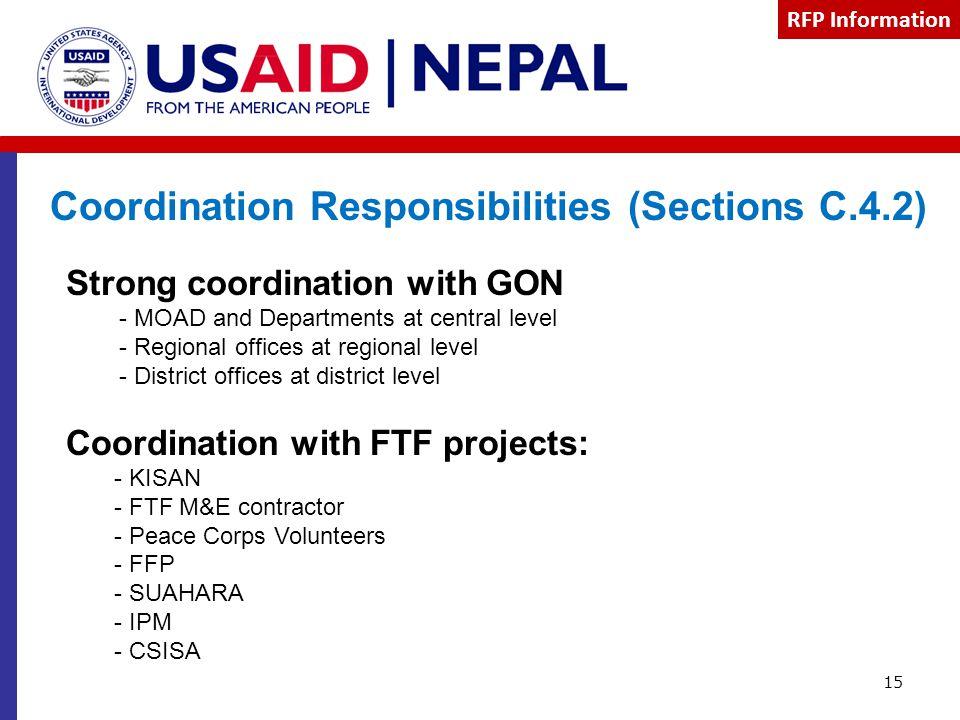 Coordination Responsibilities (Sections C.4.2)