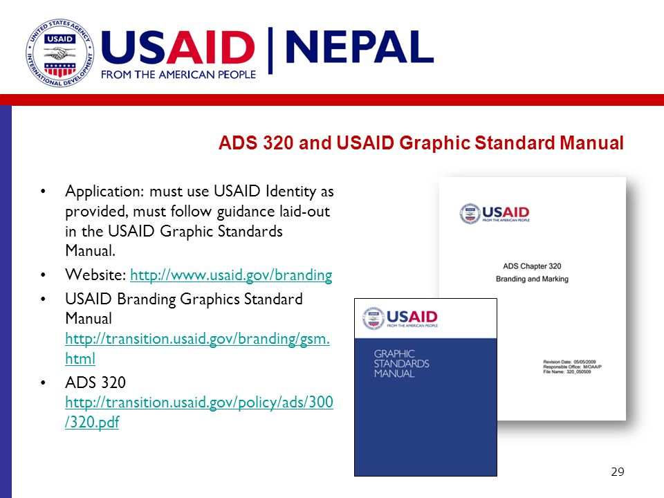 ADS 320 and USAID Graphic Standard Manual