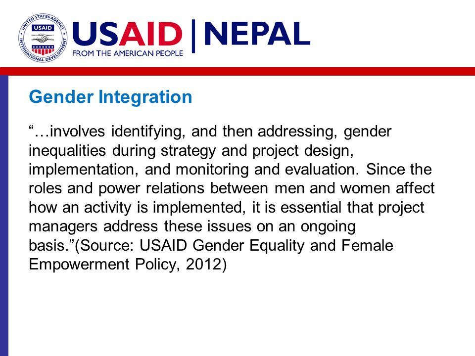 Gender Integration