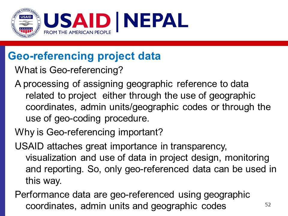 Geo-referencing project data