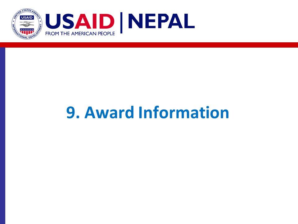 9. Award Information Binita