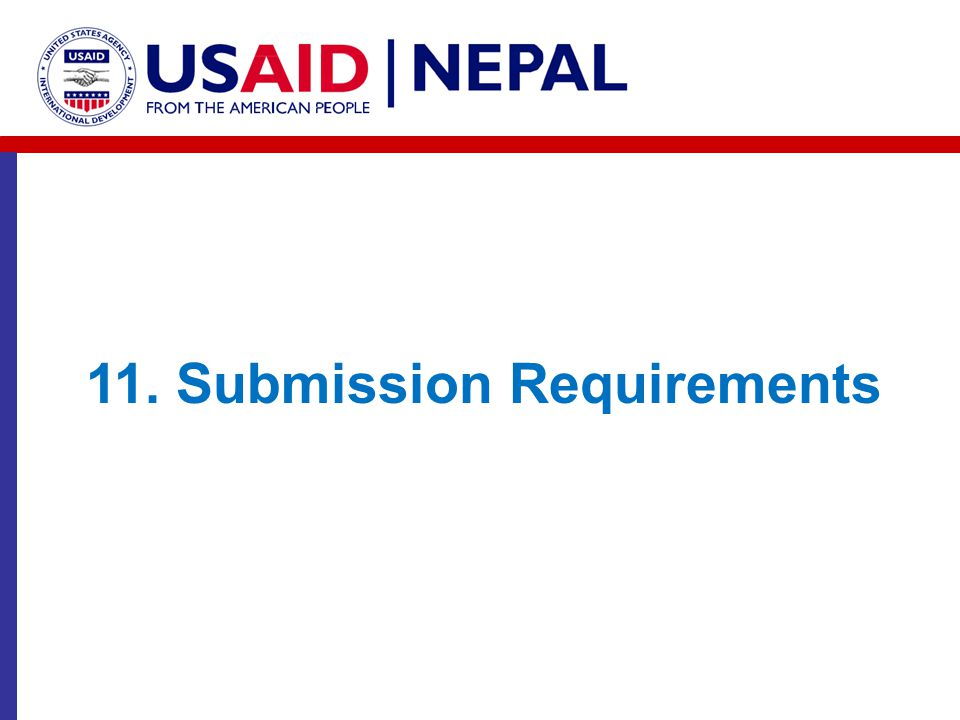 11. Submission Requirements