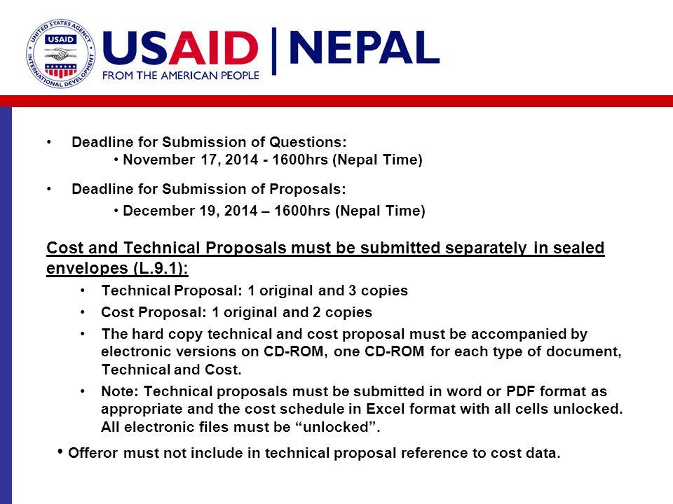 • December 19, 2014 – 1600hrs (Nepal Time)