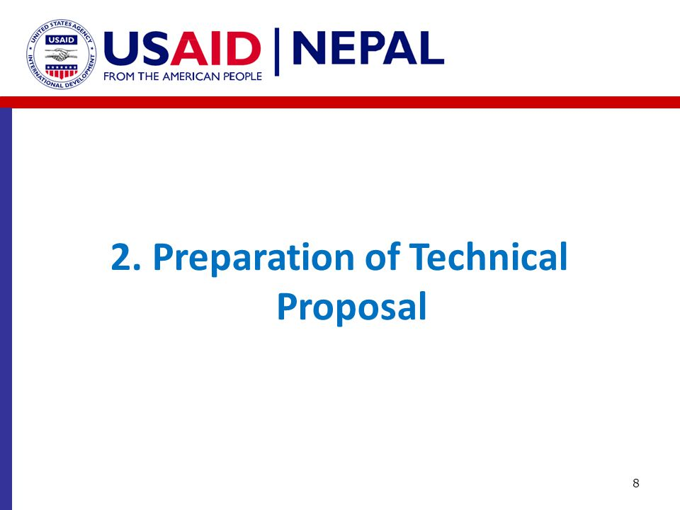 2. Preparation of Technical Proposal