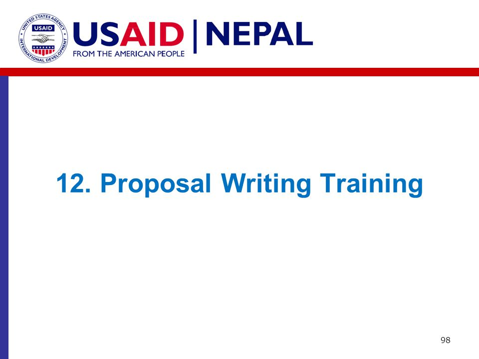 12. Proposal Writing Training