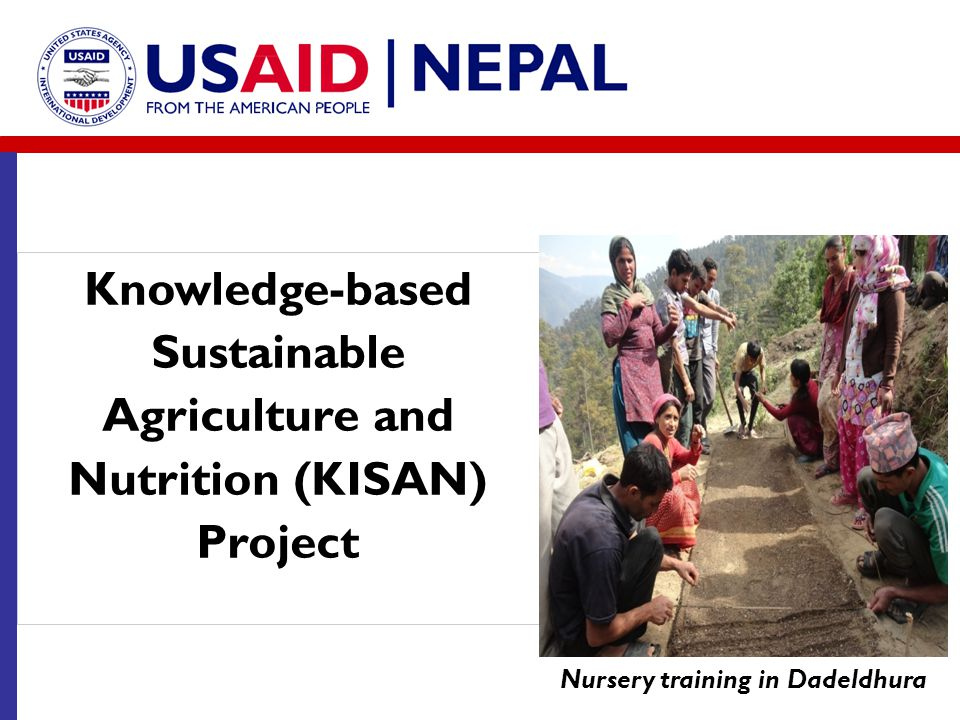 Knowledge-based Sustainable Agriculture and Nutrition (KISAN) Project