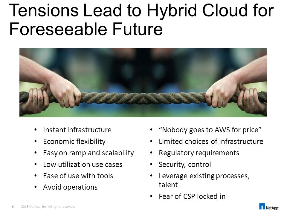 Tensions Lead to Hybrid Cloud for Foreseeable Future