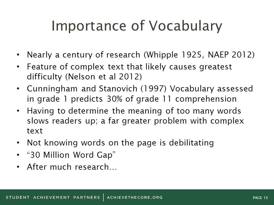 Importance of Vocabulary