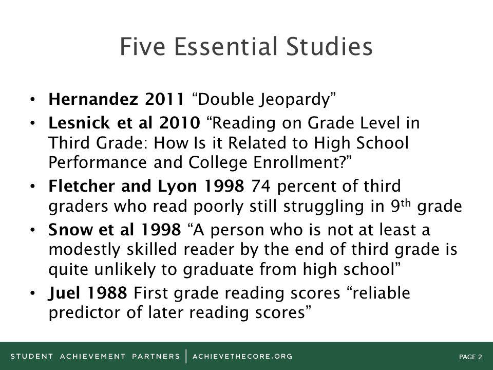 Five Essential Studies
