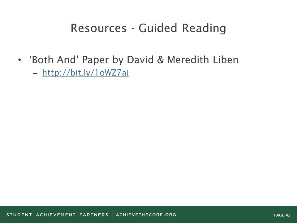 Resources - Guided Reading