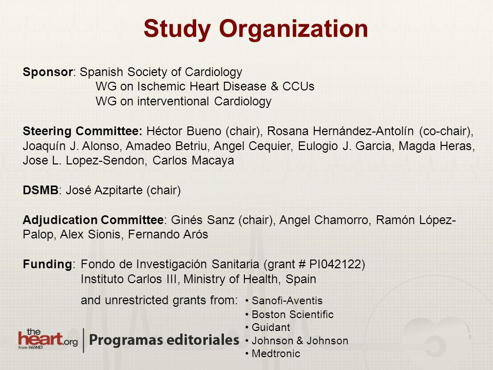 Study Organization Sponsor: Spanish Society of Cardiology