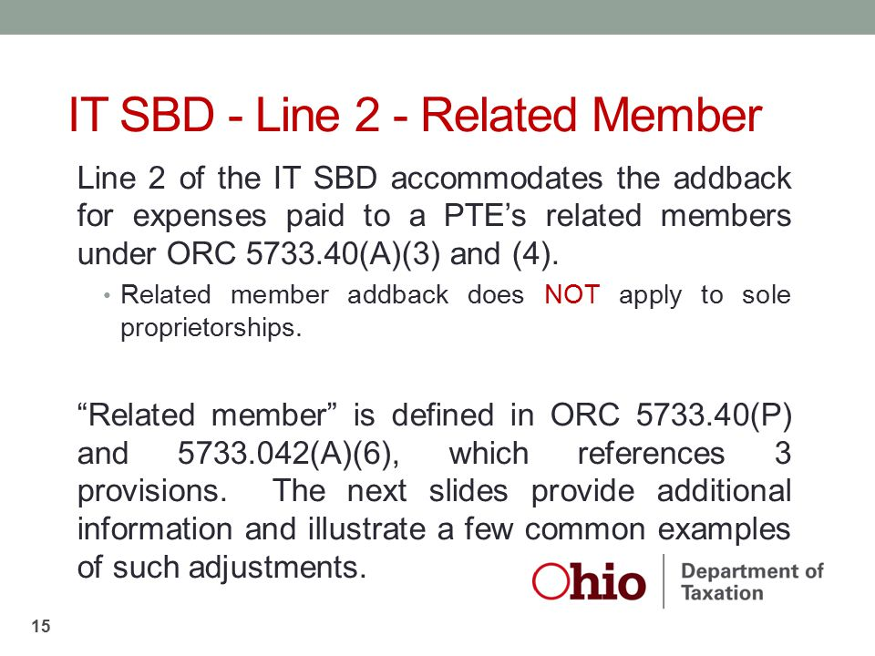 IT SBD - Line 2 - Related Member