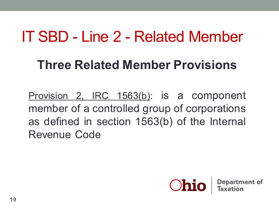 Three Related Member Provisions