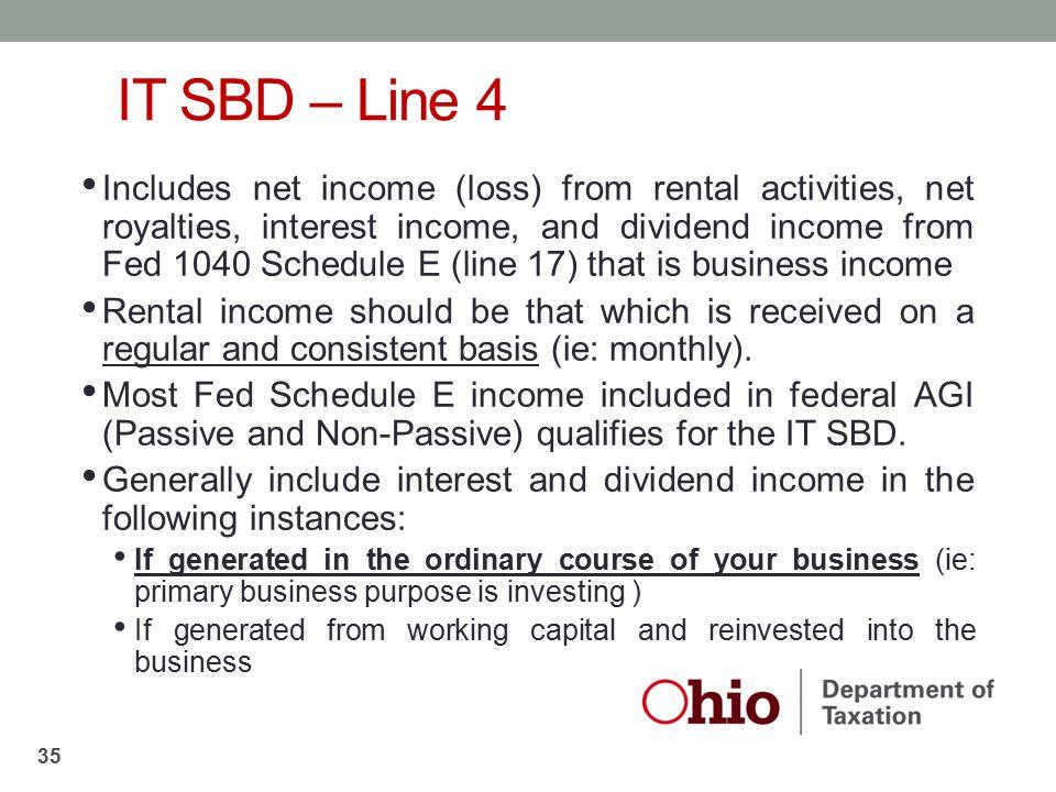 IT SBD – Line 4