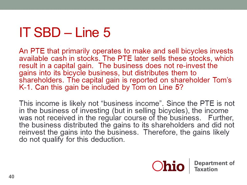IT SBD – Line 5